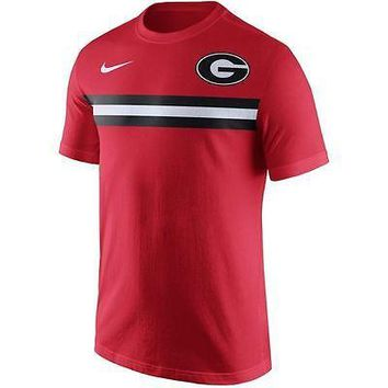 Georgia Bulldogs Men's Shirt Nike Team Stripe T-Shirt Red
