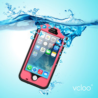 Vcloo Waterproof Case, Dust Proof, Snow Proof, Shock Proof  Cover Case for iPhone 5S, iPhone 5 with Touched Screen Protector