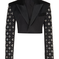 Virgin Wool Embroidered Blazer | Moda Operandi