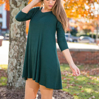 Until We Part Tunic, Forest Green