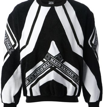 Nasir Mazhar Geometric Sweater