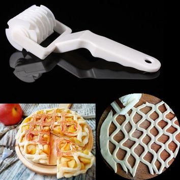 Hot White Rolling Pins & Pastry Tools Press dough dumplings Bread Cookie Pie Pizza Pastry Lattice Roller Cutter Kitchen supplies
