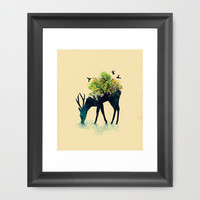 Watering (A Life Into Itself) Framed Art Print | Print Shop