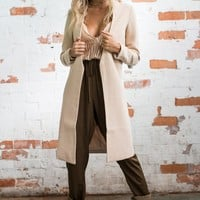 Plain Color Long Blazer