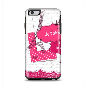 The Paris Pink Illustration Apple iPhone 6 Plus Otterbox Symmetry Case Skin Set