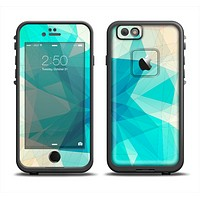The Vector Abstract Shaped Blue Overlay V2 Skin Set for the Apple iPhone 6 LifeProof Fre Case