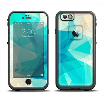 The Vector Abstract Shaped Blue Overlay V2 Apple iPhone 6 LifeProof Fre Case Skin Set