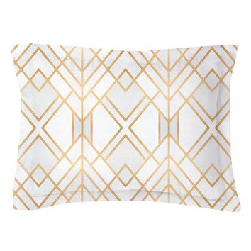 Golden Geo Pillow Shams
