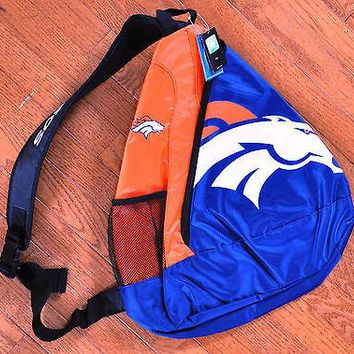 Denver Broncos BackPack / Back Pack Book Bag NEW - TEAM COLORS - SLING