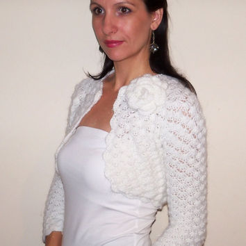 BRIDESMAIDS SHRUG Wedding BOLERO hand crochet Mohair Bridal Bolero Jacket