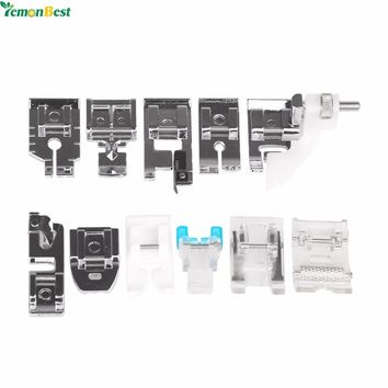 11pcs Multifunction Sewing Machine Parts Presser Foot Spare Parts Accessories For Sewing Machine Brother Singer With Retail Box