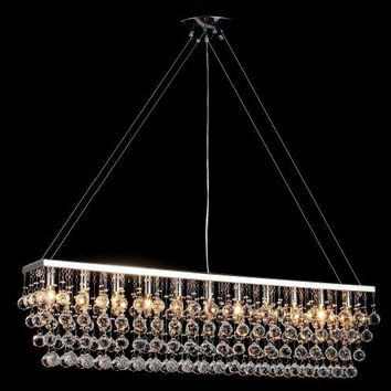 "Chandelier W/ Crystal Modern Contemporary ""Rain Drop"" Chandeliers Billiard Pool Table Light Lighting With Crystal Balls - F7-926/11"