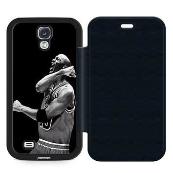 Air jordan Michael Jordan Leather Wallet Flip Case Samsung Galaxy S4