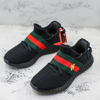 Gucci x Adidas Yeezy Boost 350 V2 Black Running Shoes - Best Deal Online