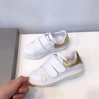 Alexander McQueen Girls Boys shoes Children boots Baby Sandle Toddler Kids Child Fashion Casual Sneakers Sport Shoes