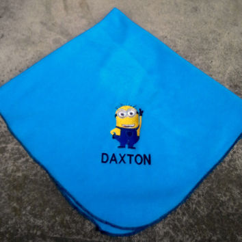 Minion - Despicable Me - Personalized Fleece Baby Blanket