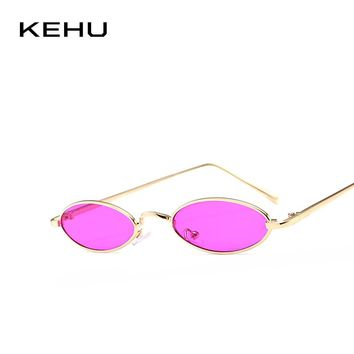 KEHU Ladies Cat Eye Sunglasses Trendy Frame Glasses High Quality Alloy Frame Ladies Fashion Eyeglasses 12 Colors To Choose K9489