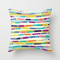 Caravan Throw Pillow by Jacqueline Maldonado