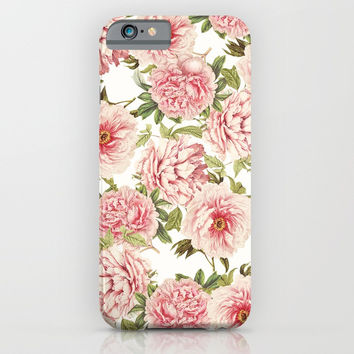 old fashioned peonies iPhone & iPod Case by Sylvia Cook Photography