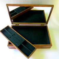 MELE Wood Jewelry Box Chest Unisex Mens Jewlery Box Fathers Day