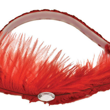 costume accessory: dance hall headpiece | red