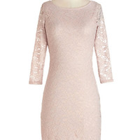 ModCloth Pastel Mid-length 3 Sheath Flair Enough Dress