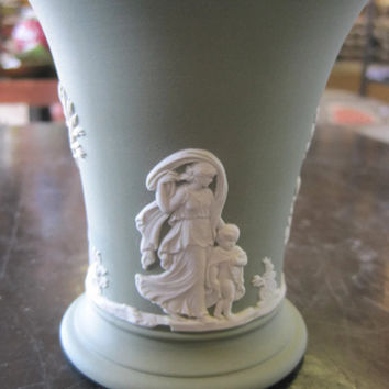Wedgwood Jasperware Posey Cup in Sage and Blue 1960's