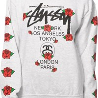 Stussy WT Rose Crew Neck Sweatshirt