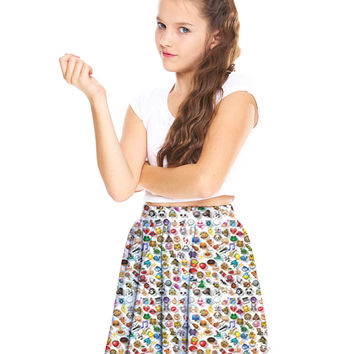 Girls Emoji 2.0 Skater Skirt