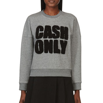 3.1 Phillip Lim Heather Grey Cash Only Sweatshirt