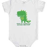 Rawr and Stuff Onsie-Unisex White Baby Onesuit