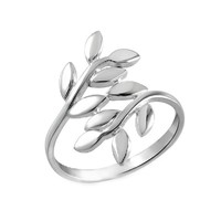 Thumb Ring Vine Leaf Design Stainless Steel Size 7