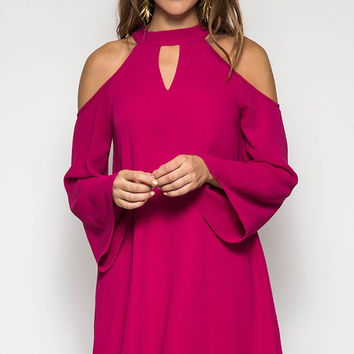Fall Beauty Dress - Berry