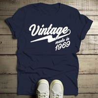 Men's Vintage T Shirt 1969 Birthday Made In Shirt 50th Birthday Tee Retro Gift Idea Vintage Tee