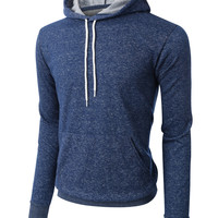 LE3NO PREMIUM Mens Slim Fit Soft Fleece Pullover Hoodie Sweatshirt