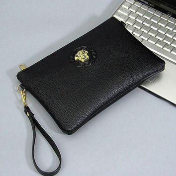 DCCKN6V Versace Fashion Men Envelope Clutch Bag Leather File Bag Tote Handbag G