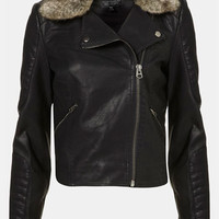 Topshop 'Maddox' Faux Leather Jacket | Nordstrom