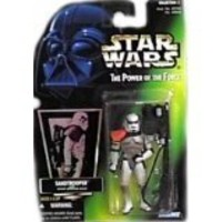 Star Wars Power of the Force Sandtrooper Green Card Action Figure By Kenner