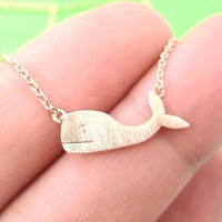 Cute Whale Animal Pendant Necklace in Light Copper | DOTOLY