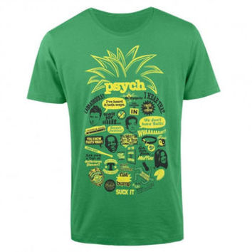 Psych Pineapple Quote Mash Up T-Shirt by NBC Store - Teenormous.com