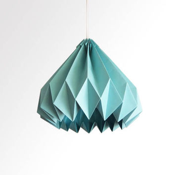 Water Drop / Origami Paper LampShade - Turquoise
