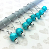 Snag Free Stitch Marker Set // Crochet Loop Row Counters // Knitting Needle Size US 13