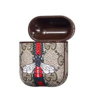 GUCCI Bees AirPods Leather Case