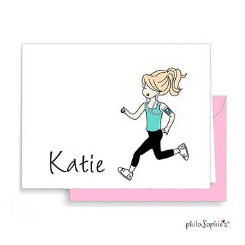 Runner Personalized Thank You Notes