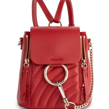 Chloé Faye Quilted Leather Backpack | Nordstrom