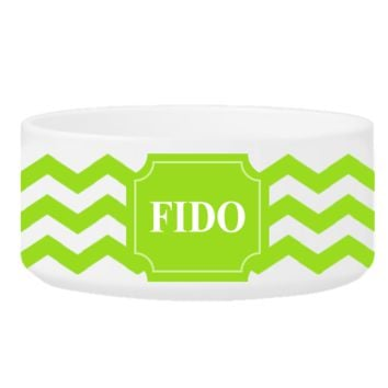 Colorful Classic Large Dog Bowls - Cheerful Chevron