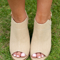 You've Seen It All Heels, Taupe