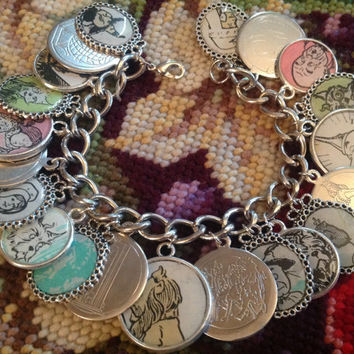 The Wizard of Oz Altered Art Charm Bracelet