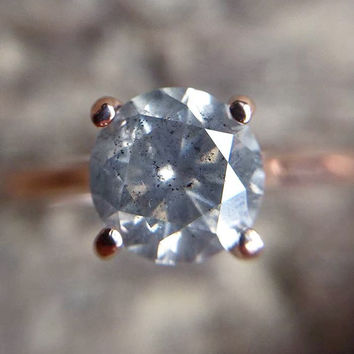 Custom Gray Celestial Diamond ™ Ring - Pick your diamond