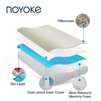 Memory Foam Cooling Gel Cervical Protect Orthopedic Pillow